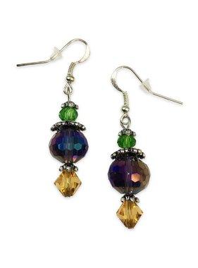 Mardi Gras Crystal Earrings