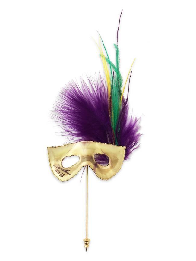 Mardi Gras Mask Lapel Pin