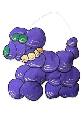 Mardi Gras Bead Dog Door Hanger