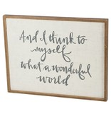 What A Wonderful World Framed Sign