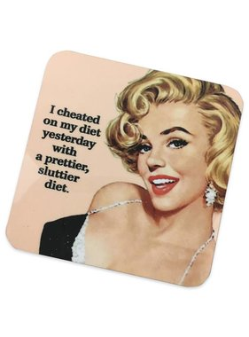 Sluttier Diet Cork Coaster