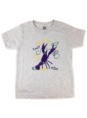 Mardi Gras Crawfish Tee for Kids