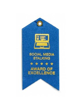 Social Media Stalking Award Magnet