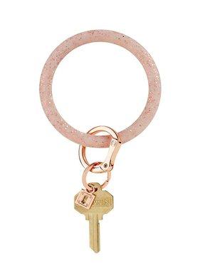 Rose Gold Confetti Silicone Keyring Bracelet