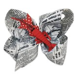 Crawfish & Newspaper Hair Bow