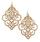 Bold Filigree Earrings in Gold