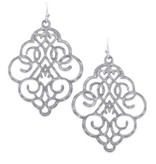 Bold Filigree Earrings in Silver