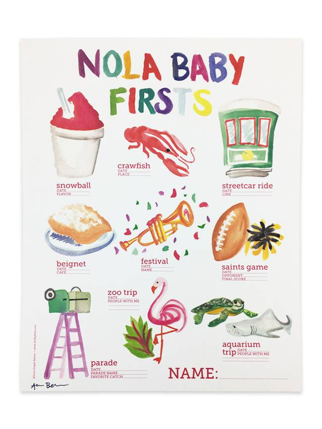 NOLA Baby Firsts Poster