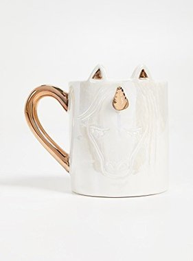 Unicorn Mug with Gold Accents