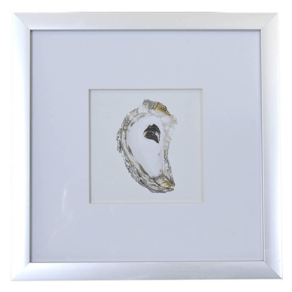 Silver Framed Oyster Wall Art