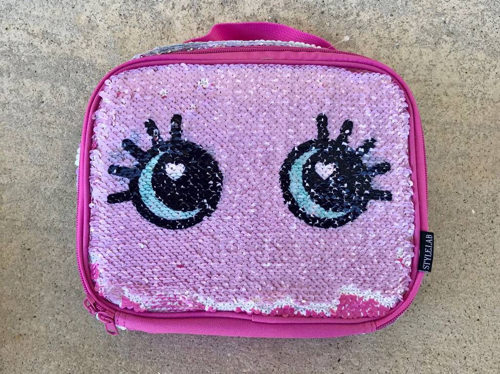 Silver Wink Magic Sequin Lunch Tote