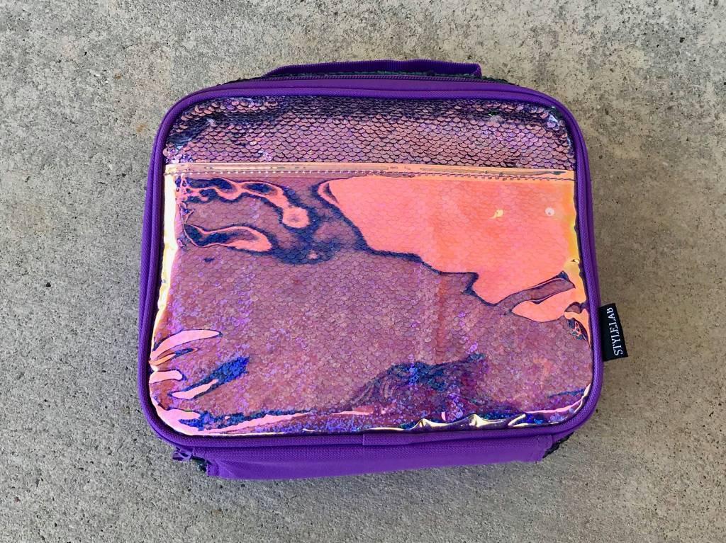 Purple Seafoam Magic Sequin Lunch Tote