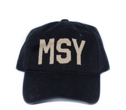 MSY Baseball Hat, Saint Black