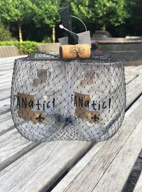 New Orleans Fanatic Shatterproof Wine Goblet Set