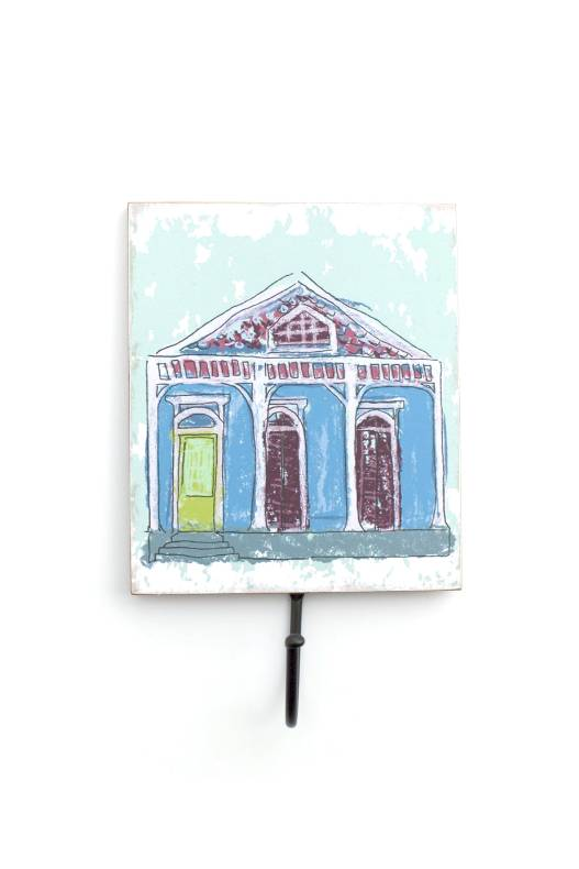 Blue Creole Cottage Wall Hook