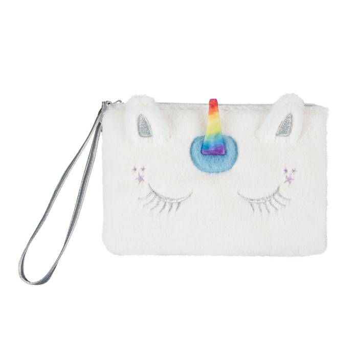 Kids Misc, Bag, Wristlet, Unicorn Faux Fur