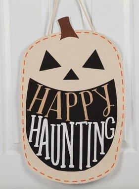Happy Haunting Pumpkin Door Hanger