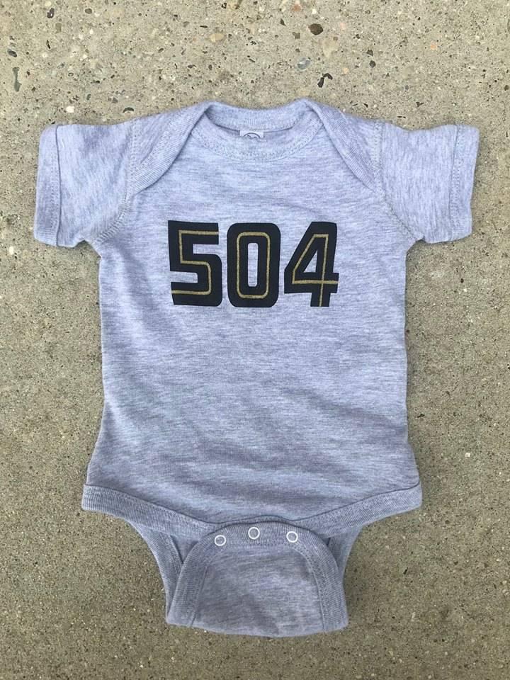 504 Black & Gold Onesie