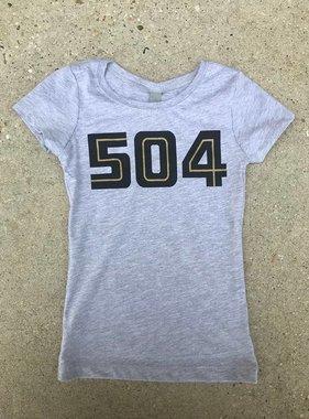 504 Black & Gold Tween Tee