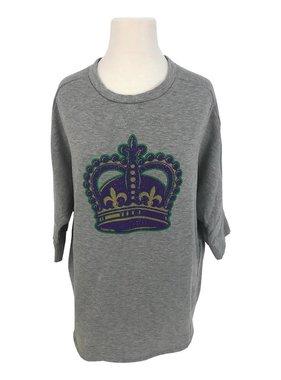 Mardi Gras Crown Sweatshirt, Grey
