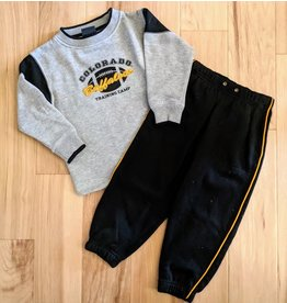 KIDS GREY SWEATSUIT CU FOOTBALL SET