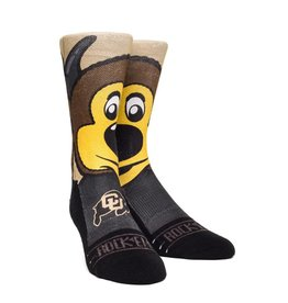 COLO BUFFS CHIP MASCOT SOCK