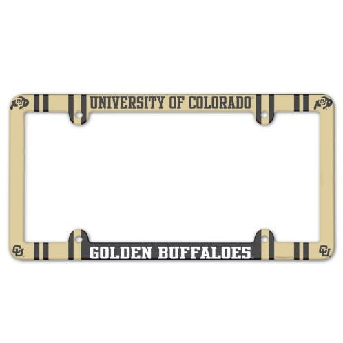 UNIVERSITY OF COLORADO GOLDEN BUFFALOES LICENSE PLATE FRAME- PLASTIC