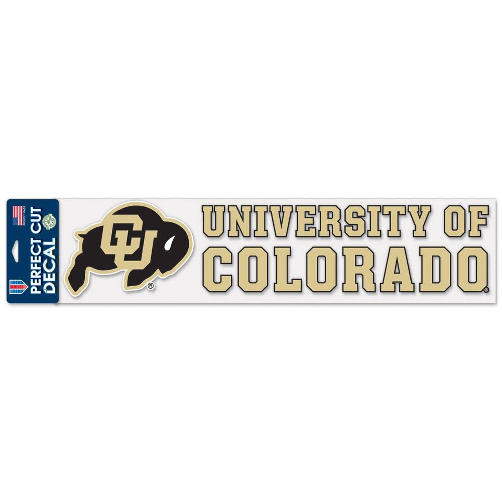 """PERFECT CUT UNIV OF COLO 4""""X17"""" DECAL"""