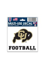 "CU FOOTBALL 3"" X 4"" MULTI USE DECAL"