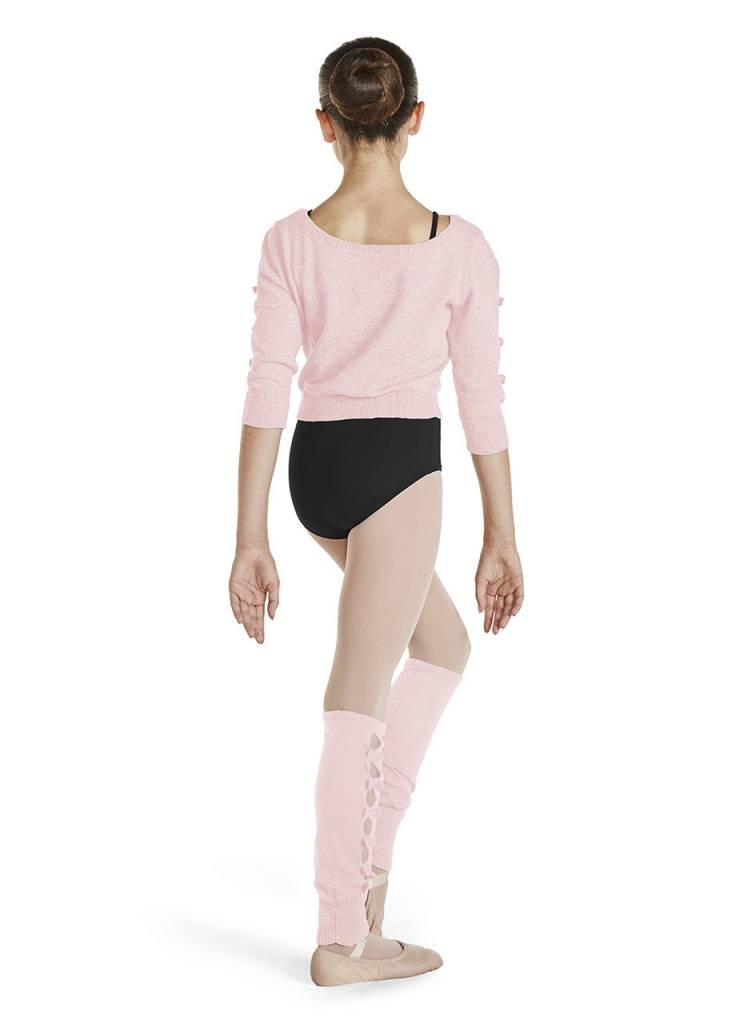 Bloch & Mirella CZ1126 - Bow Detail Crop Sweater
