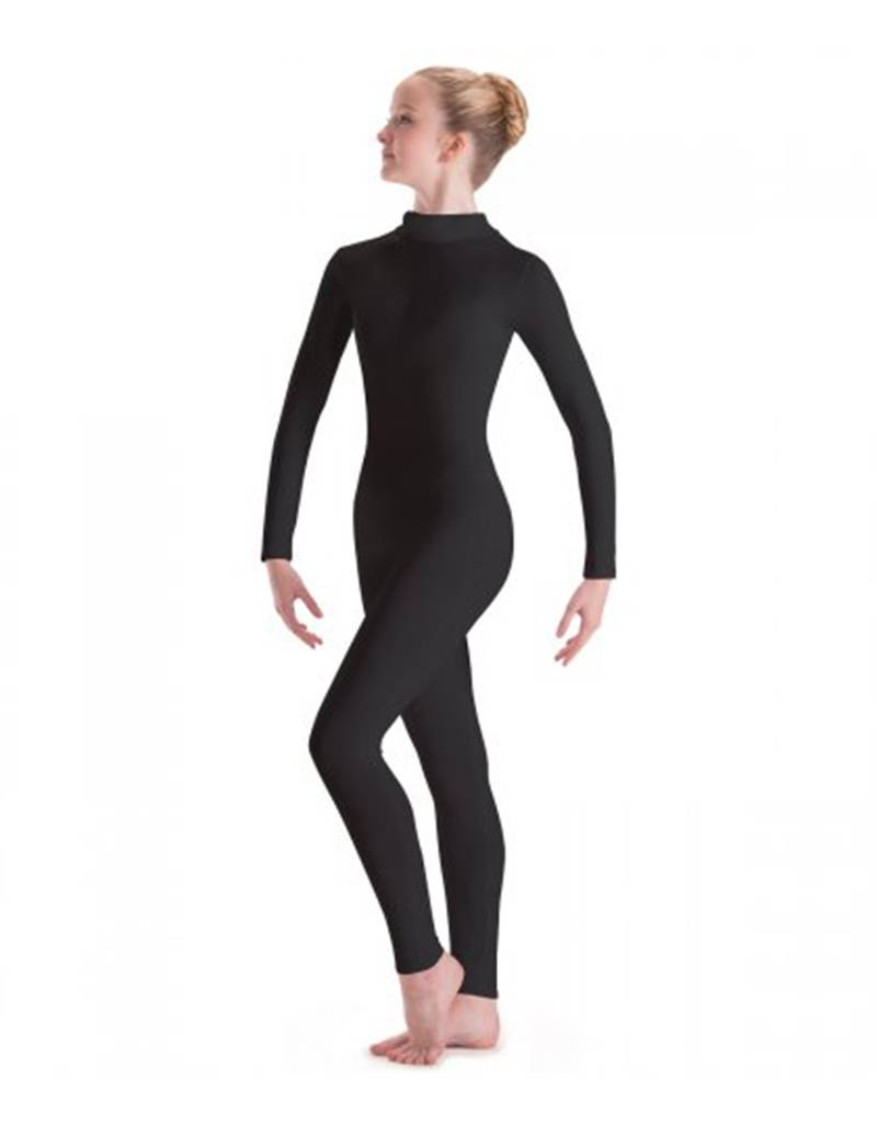 MotionWear MW6662: MotionWear Long Sleeve Dance Unitard with Mock-T Zip Back