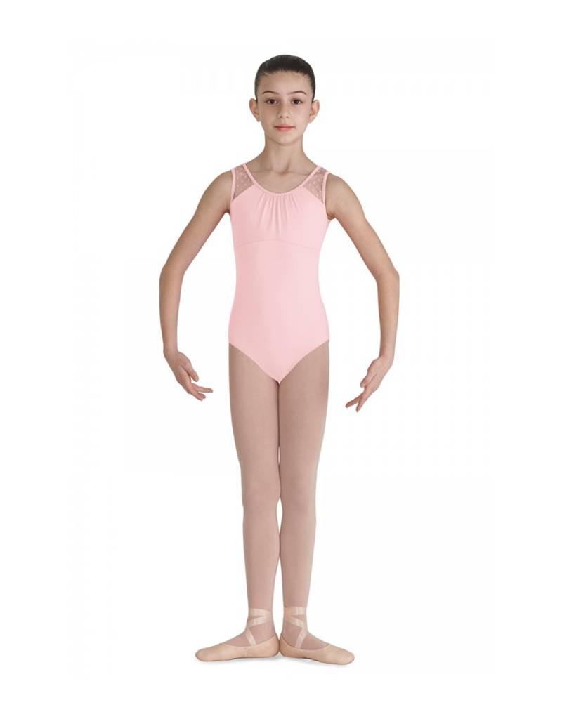 Bloch, Mirella, Leo, Dance Now CL7905: Bloch Girls' Miame Heart Mesh Tank Leotard