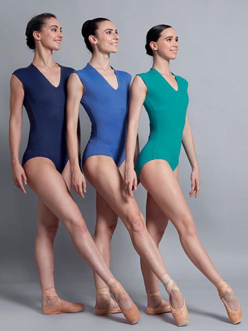 Ballet Rosa ANGELES-Slvls V-neck Leo