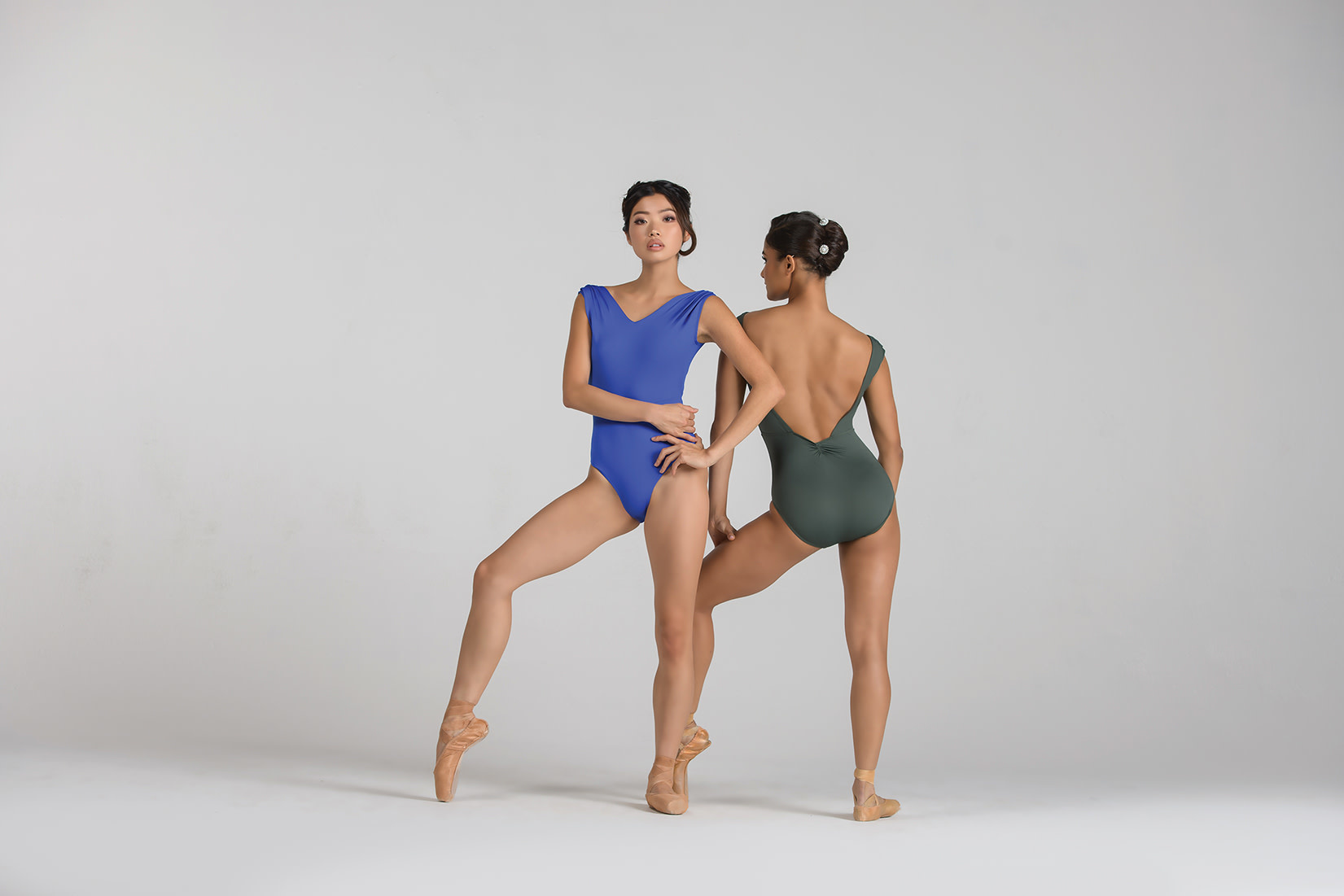 Ballet Rosa Gianna- Pleated Shoulder Leo