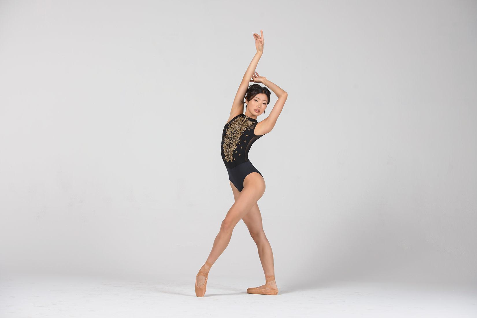 Ballet Rosa Harper-High Neck Eliptic Back Leo