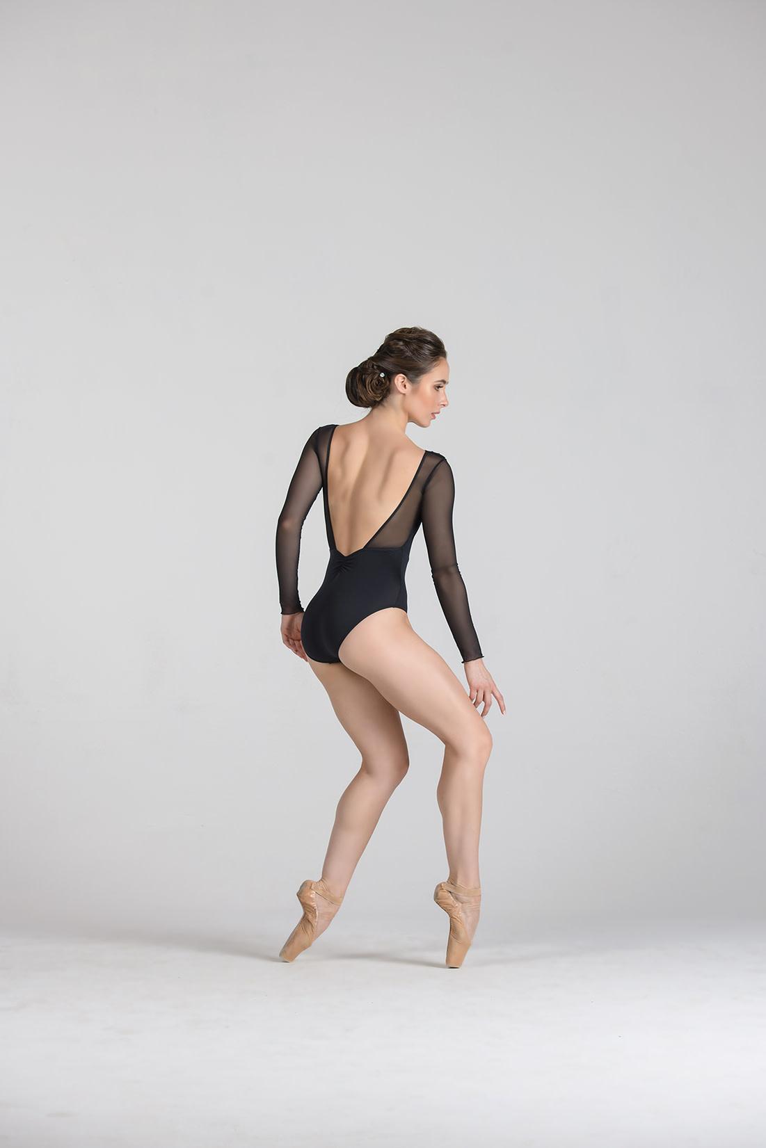Ballet Rosa Shirley-V Fr Pleate Shoulder Leo
