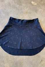 MotionWear MW1236- Blk Paisley Skirt