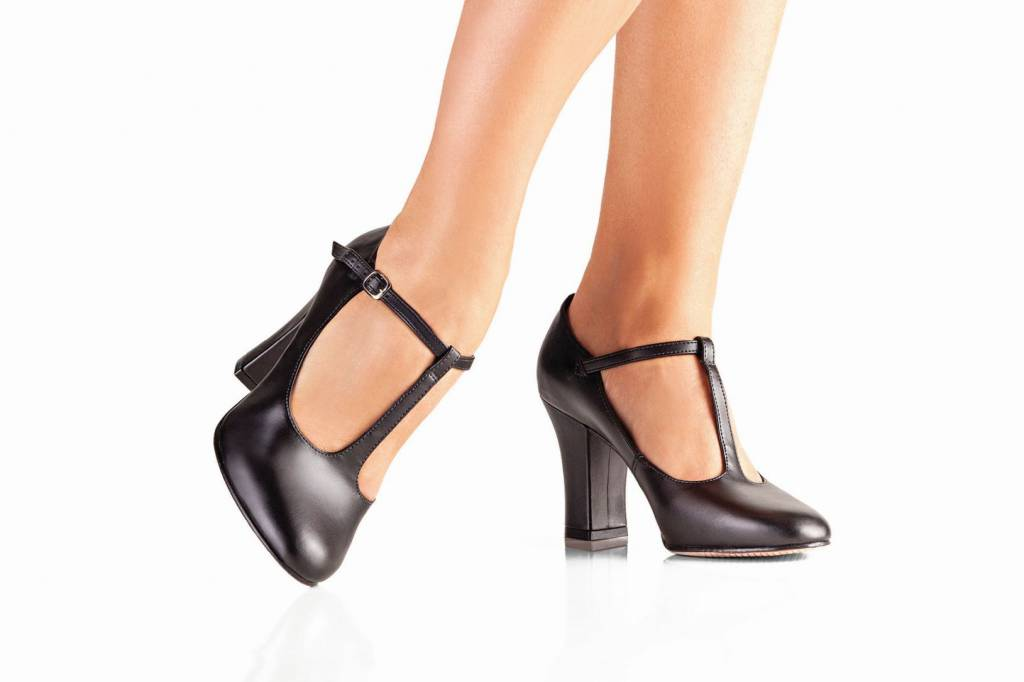 8763a81ef So Danca Caroline Character Shoe - Black Man Made Leather - The ...