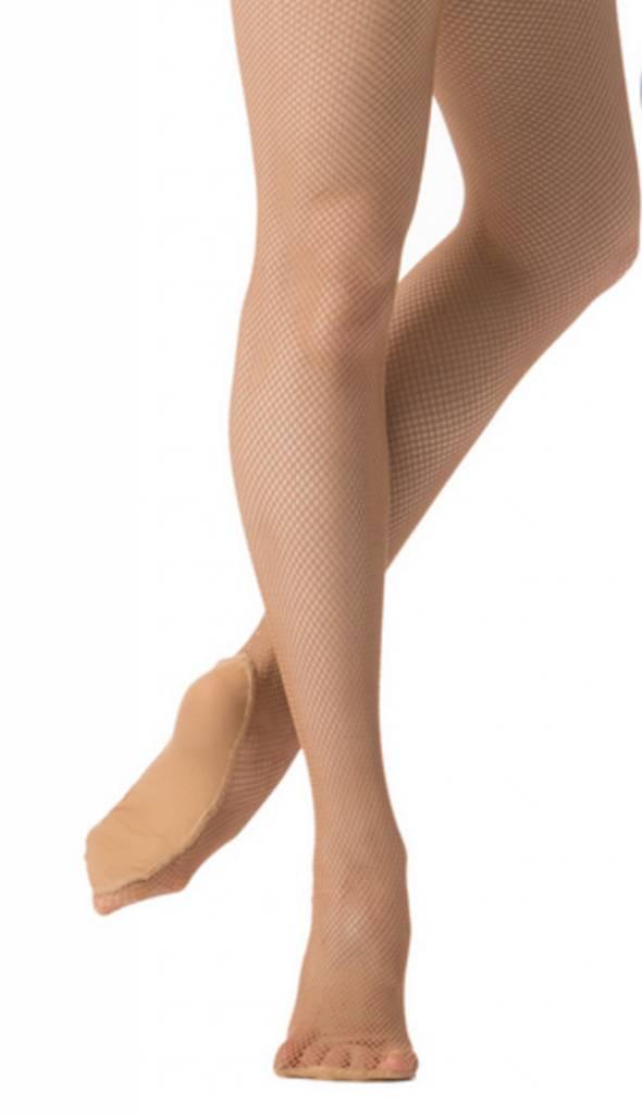 Danskin DN203: Danskin Adult Padded Foot Fishnet Tight