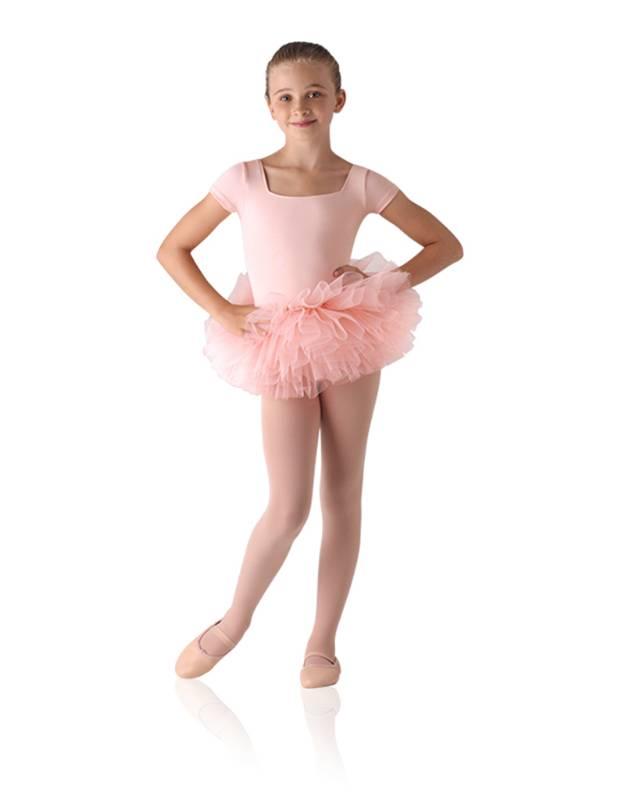 LD143CK: Children's Tutu Skirted Short Sleeve Leotard