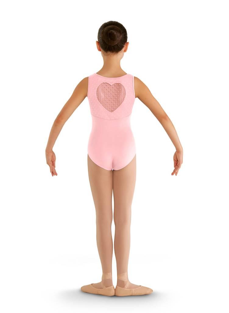 Bloch, Mirella CL7905: Bloch Girls' Miame Heart Mesh Tank Leotard