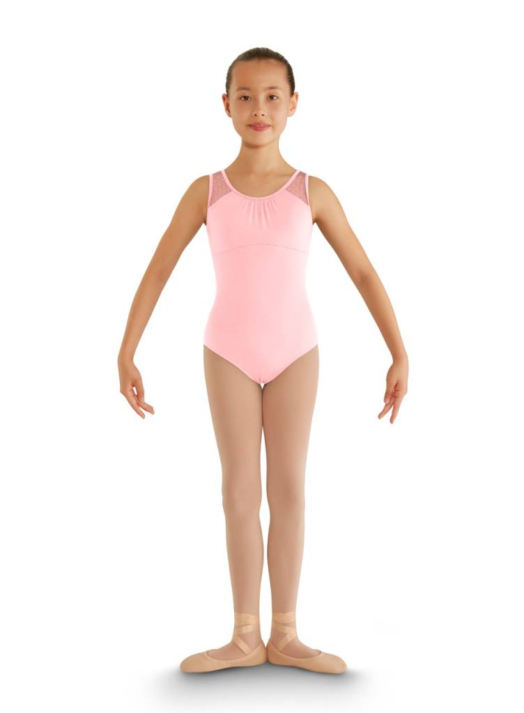 Bloch & Mirella CL7905: Bloch Girls' Miame Heart Mesh Tank Leotard