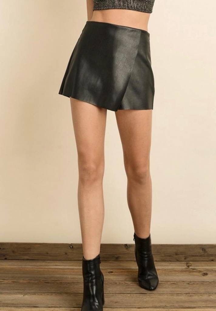 Waxy Vegan Leather Shorts