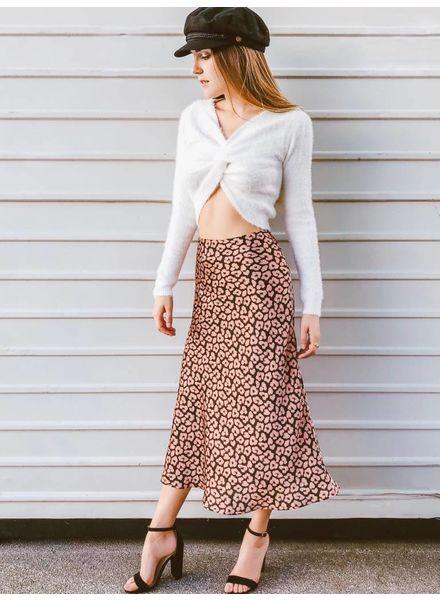 Bubblegum Kitten Midi Skirt