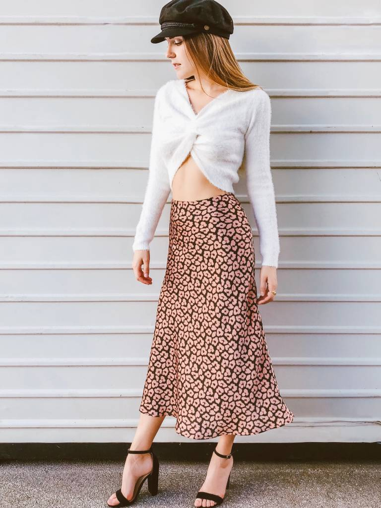 Bubblegum Kitten Midi Skirt