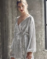 Bianca Sequin Wrap Dress