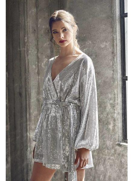 Bianca Sequin Wrap Dress
