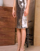 Feeling Bubbly Sequin Skirt