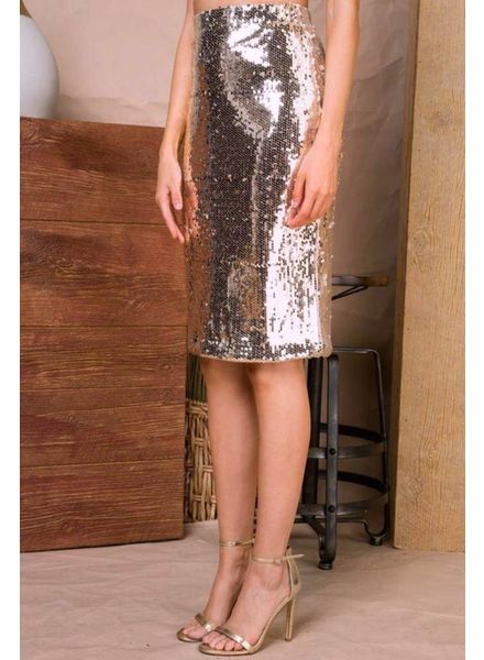 Feeling Bubbly Sequin Skirt