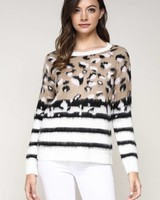 Misha Leopard Sweater